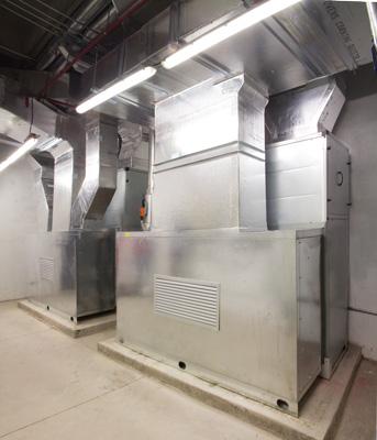 Unidad Maneadora de Aire con ductos de suministro y retorno en fibra de vidrio, schlumberger