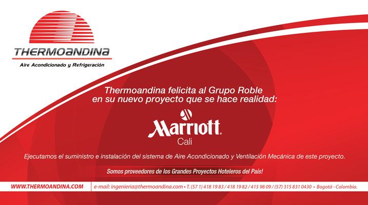 Aviso de felicitación Hotel Marriott de Cali